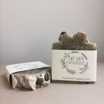 Hazelnut and Cappuccino Soap by Cwt Gafr