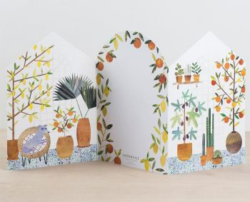 Orangery Concertina Card by Paperwhale