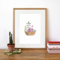 Botanics Wall Print - Succulents by Paperwhale