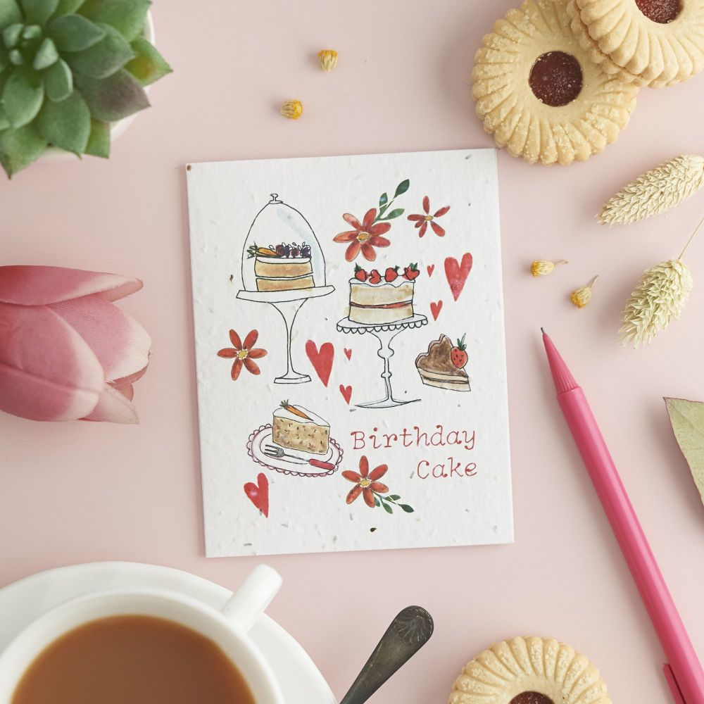 Birthday Cake Card by Hannah Marchant