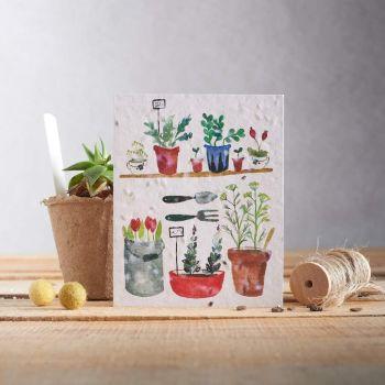 English Garden 2 Card by Hannah Marchant
