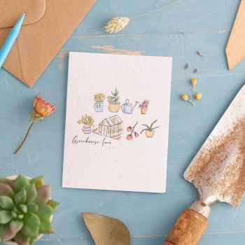 Greenhouse Fun Card by Hannah Marchant