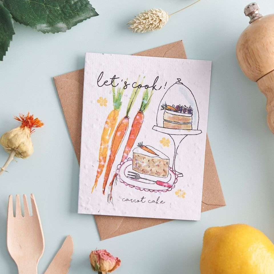 Let's Cook Carrot Cake Card by Hannah Marchant