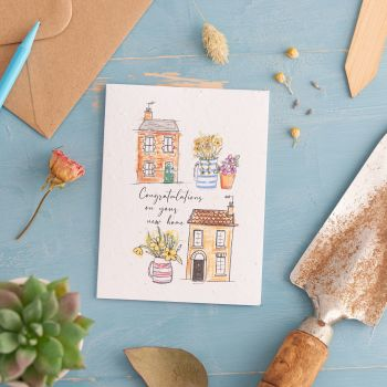 Congratulations on Your New Home Card by Hannah Marchant