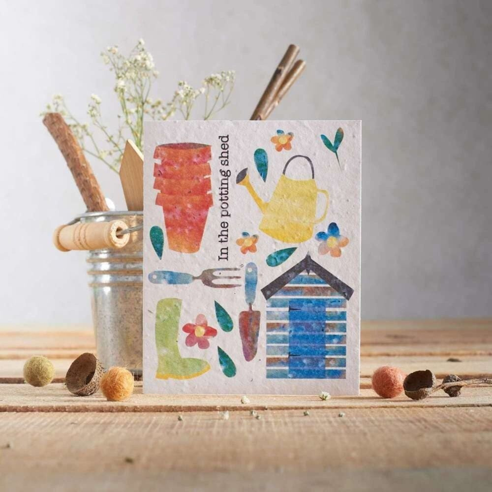 In The Potting Shed Card by Hannah Marchant