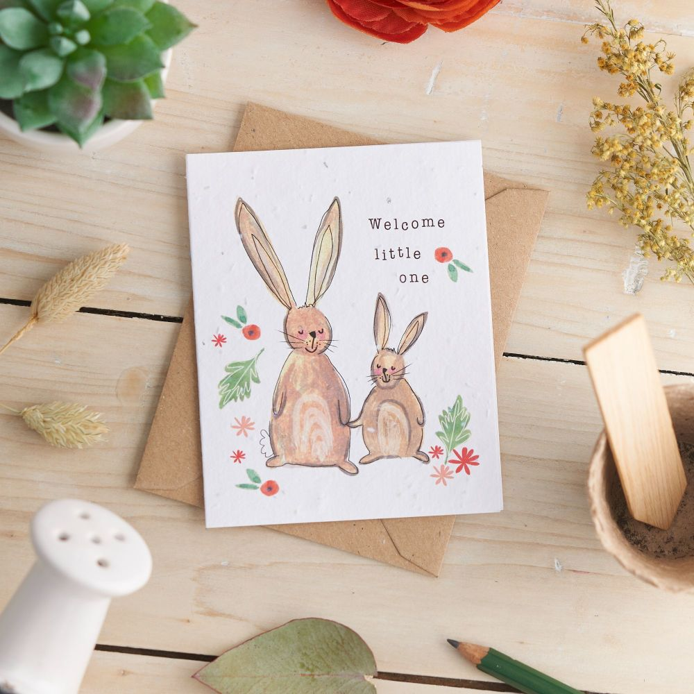 Welcome Little One Card by Hannah Marchant