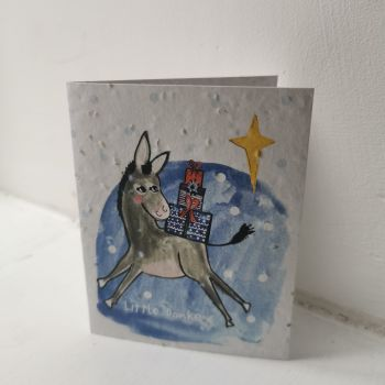 Little Donkey Card by Hannah Marchant
