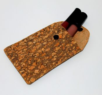Gold Speckle Cork Pouch