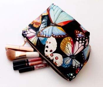 Butterfly Faux Leather Make Up Bag
