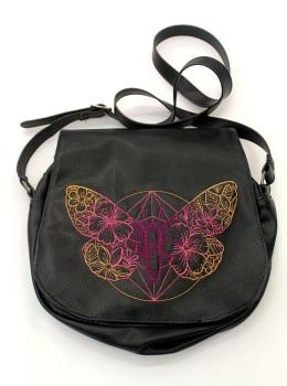 Butterfly Faux Leather Satchel