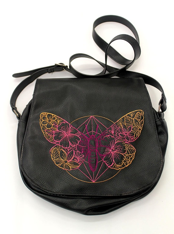 Butterfly Faux Leather Satchel