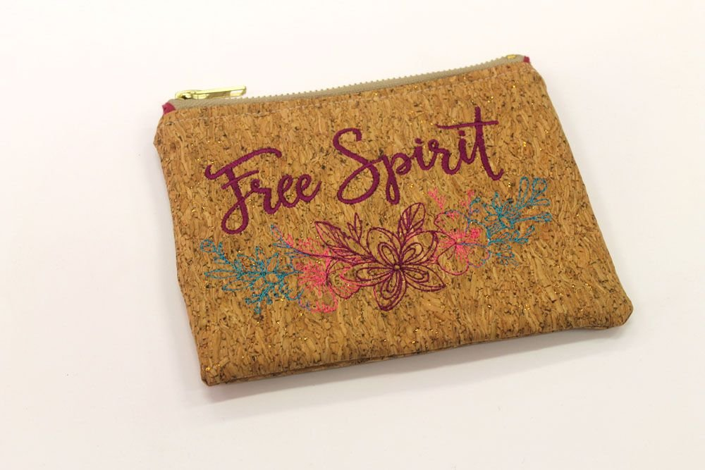 Free Spirit Cork Make Up Bag