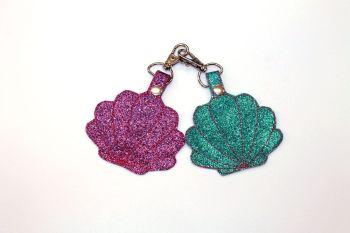 Glitter Seashells Bag Charm