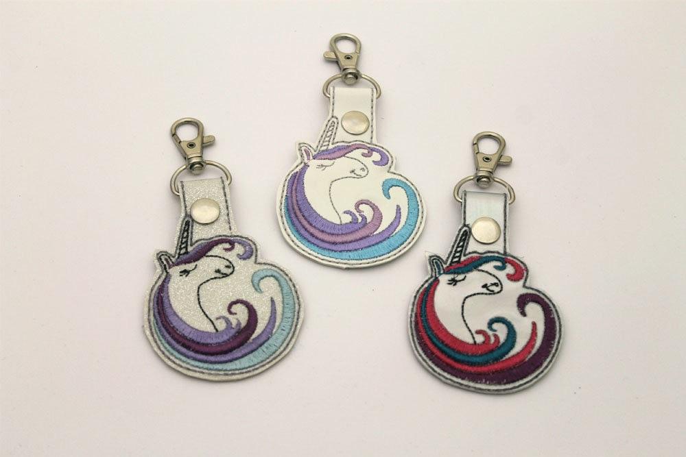 Glitter Rainbow Unicorn Bag Charm
