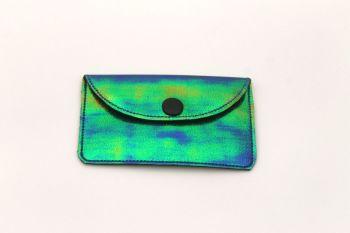 Shimmer Blue Card Holder