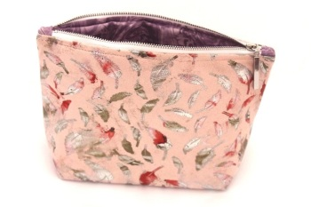 Light pink Feather Makeup Bag