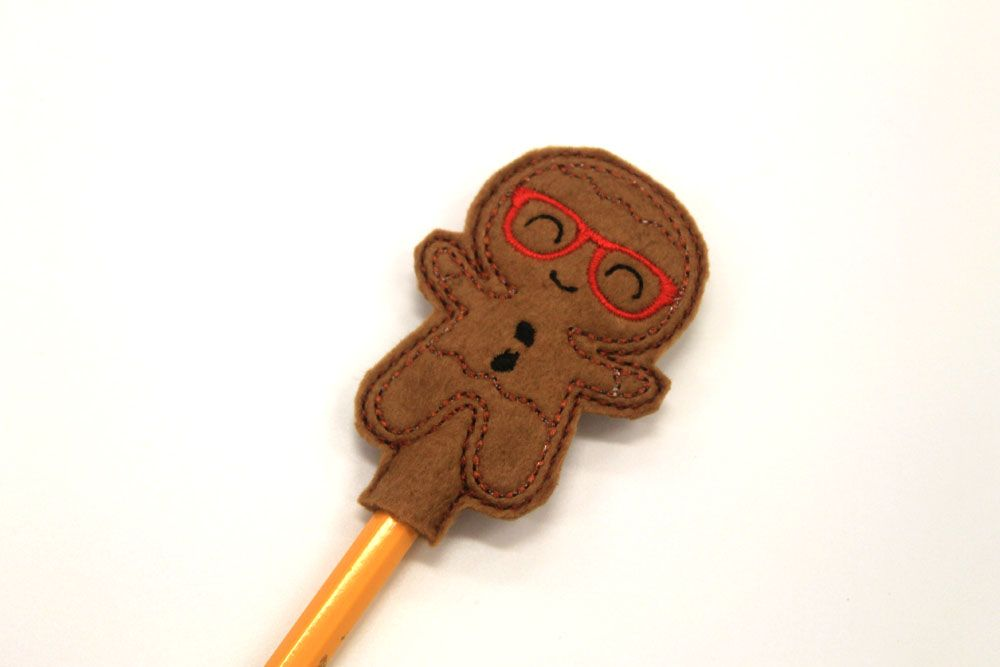Gingerbread Pencil Toppers