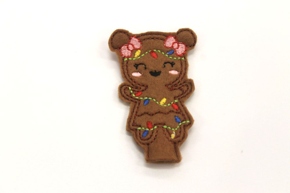 Gingerbread Girl Pencil Topper