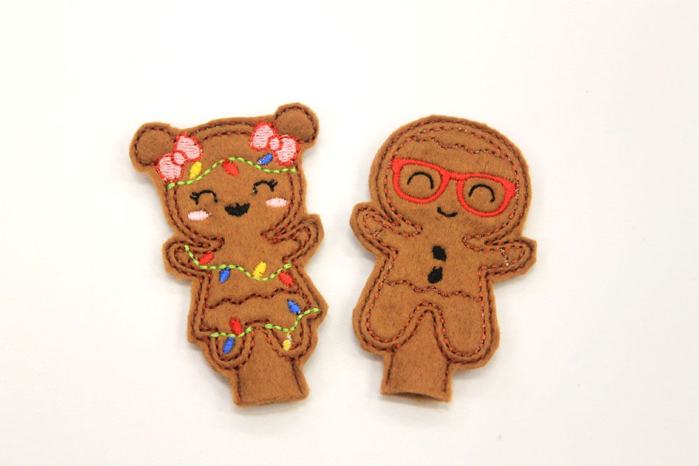 Gingerbread Pencil Toppers boy and girl Gingers