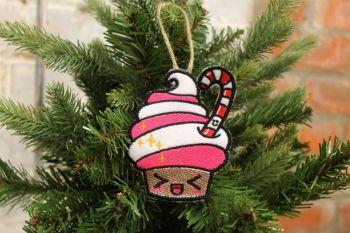 Kawaii Christmas Cupcake tree decoration