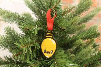 Christmas light decorations (yellow)
