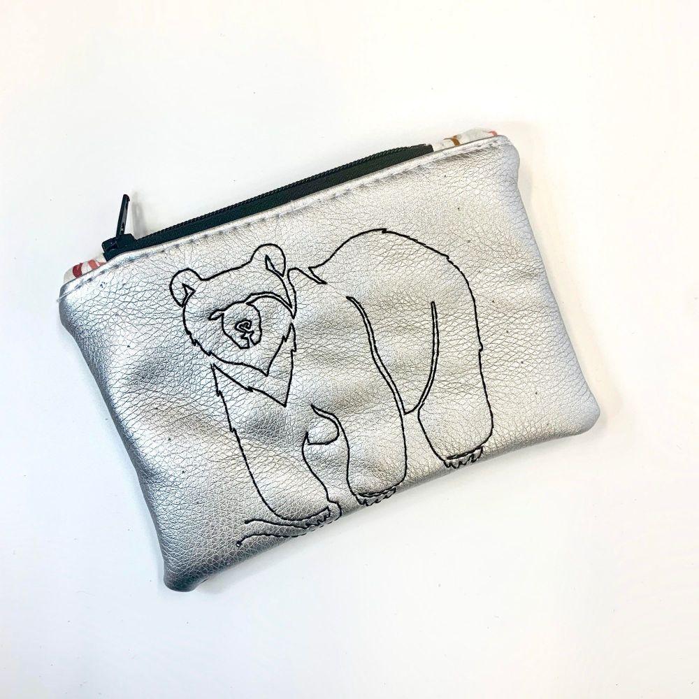 Metallic Bear coin purse