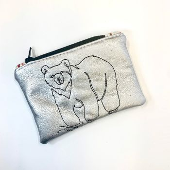 Metallic Bear coin purse