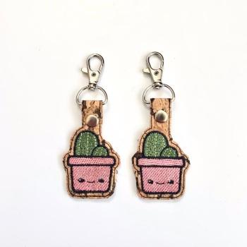 Cactus Kawaii Keyring