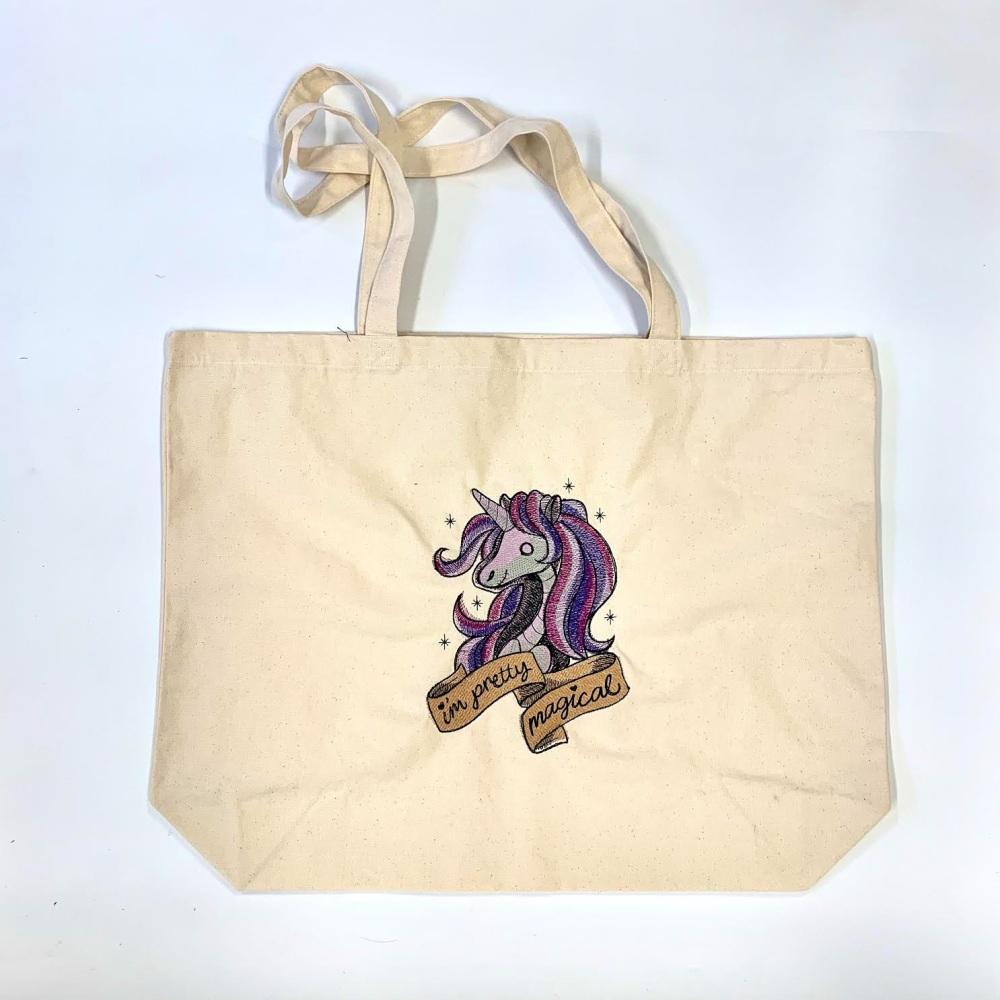 Unicorn Canvas Shopper bag