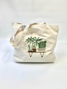 House Plant Shopper Bag Design 2