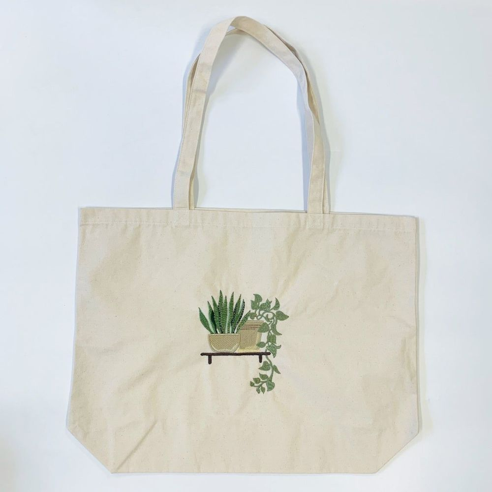 Large House Plant Tote bag