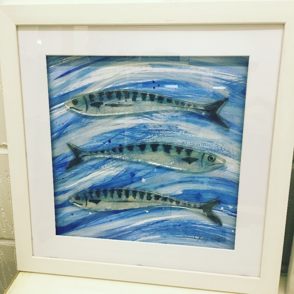 Large Cornish Fish Series Mackerel Sea Frames
