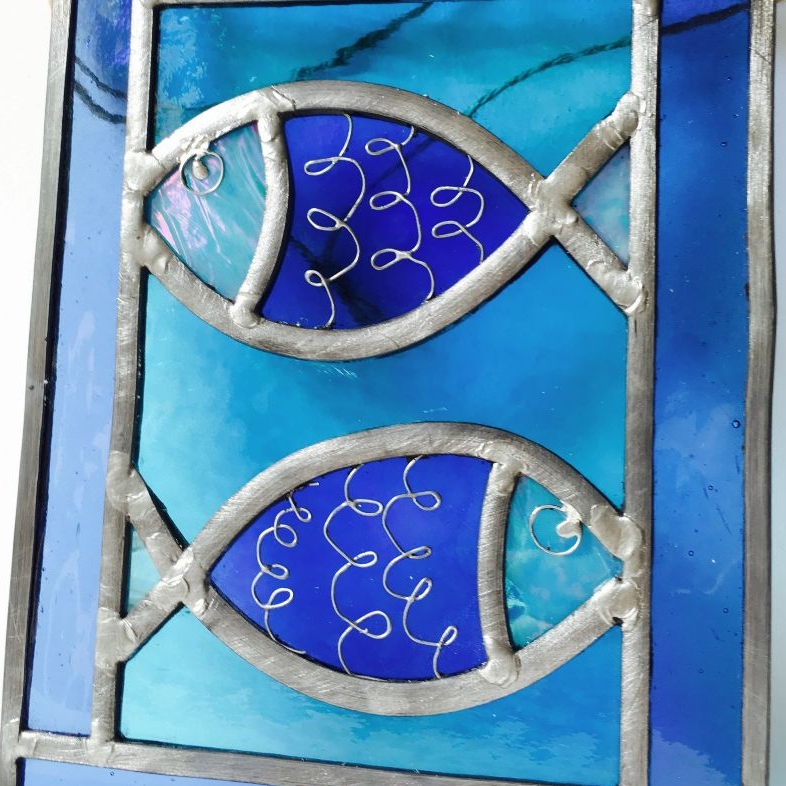 Stained Glass Fish Inspired Lightcatchers