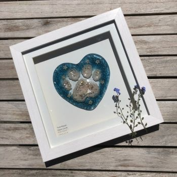Framed Pet Memorial Heart