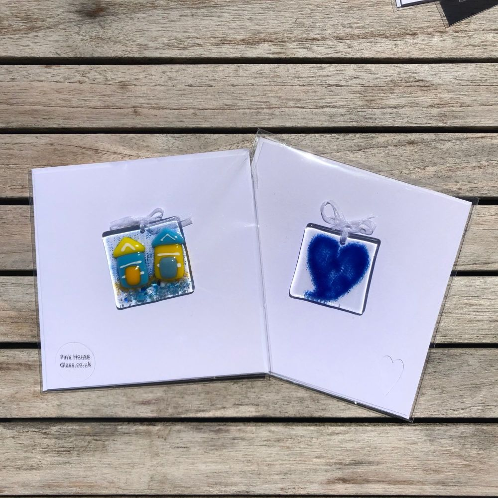 Blue Heart and Beach hut Cards