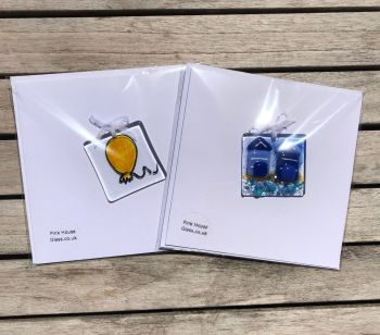 Yellow Balloon and Beach Hut Cards