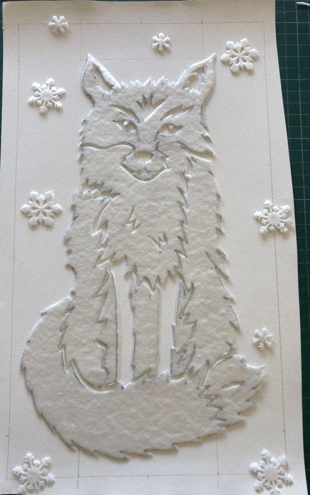 AA kiln carved fox full day