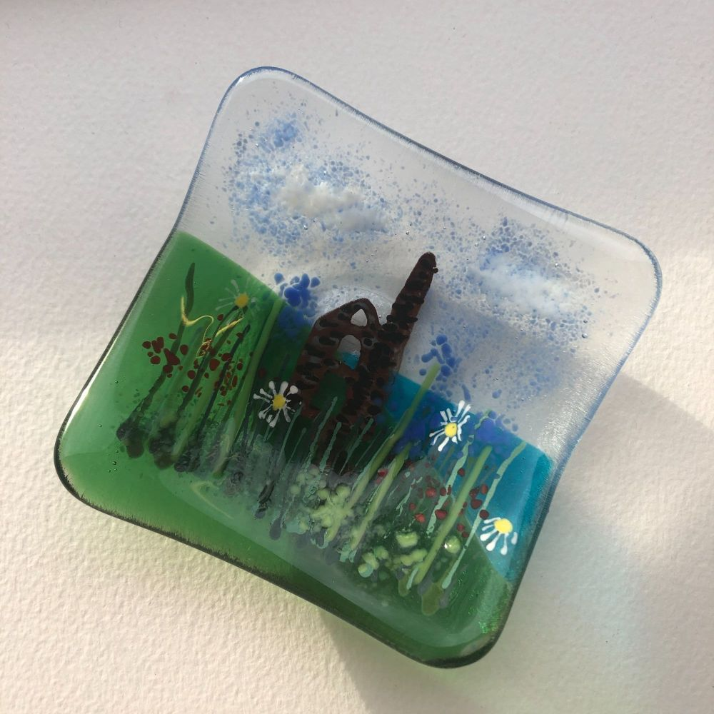 Cornish tin mine trinket dish