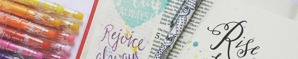 Rise and Pray Scripture | Rejoice Scripture | Rise and Pray Journal | Bible Journaling with Grace & Salt ink | Journaling Bible Inspiration | Journaling Supplies
