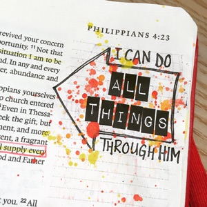 Bible Journaling with Grace & Salt ink | inkDori | Watercolor Bible Journaling