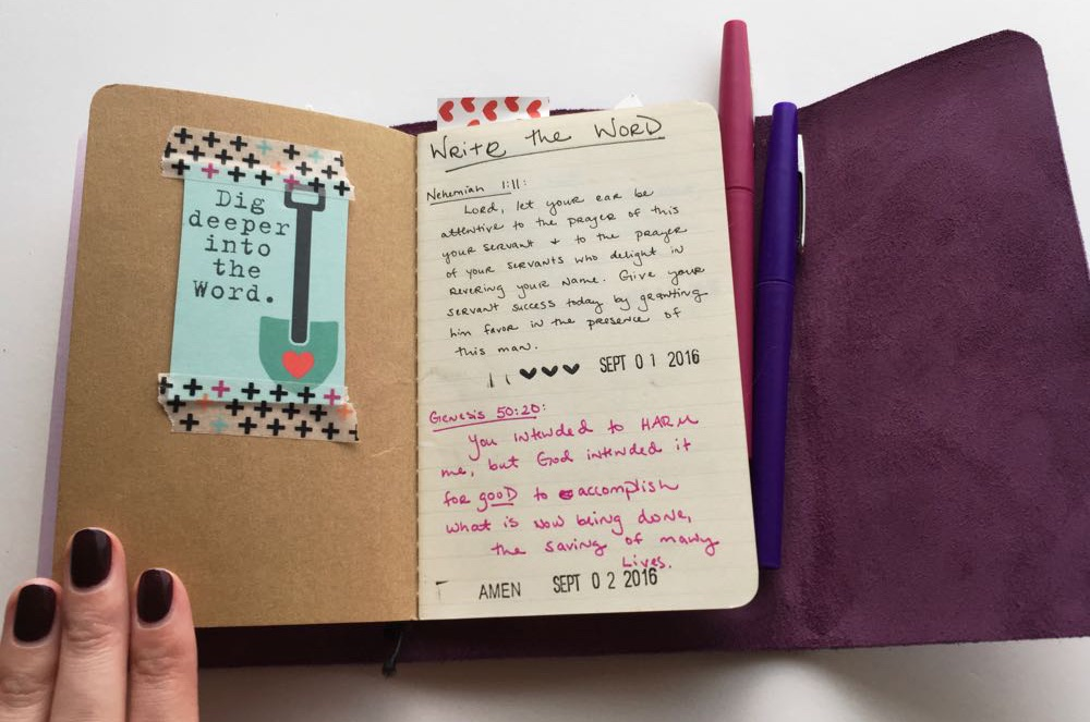 inkDori Traveler's Notebook from Grace & Salt ink | art journal, bullet journal, journaling inspiration | bujo