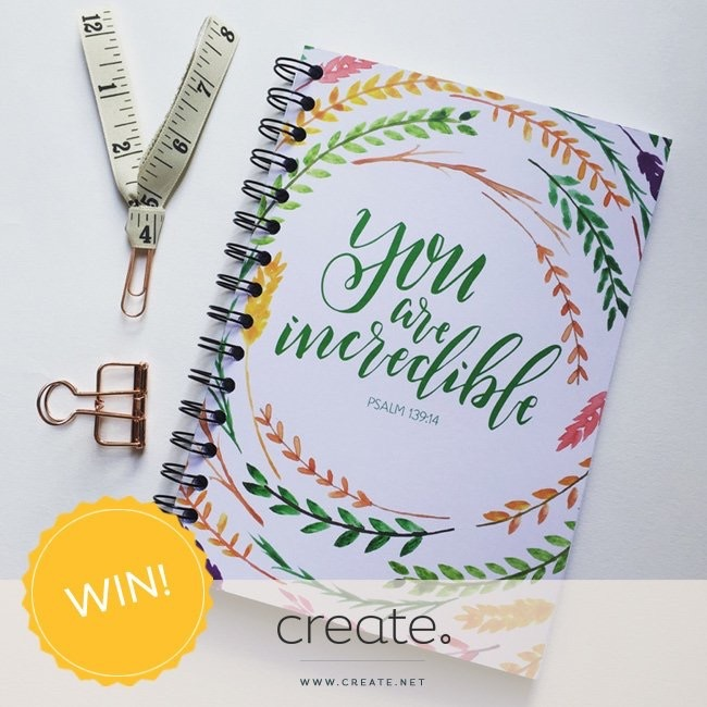 You Are Incredible Notebook |Grace & Salt ink Journal