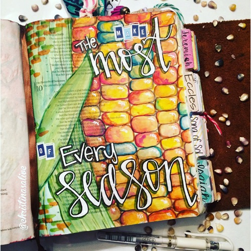 Bible Journaling with Grace & Salt ink | Bible Art