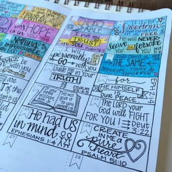 Scripture Doodles | Grace & Salt ink | Bible Journaling Series