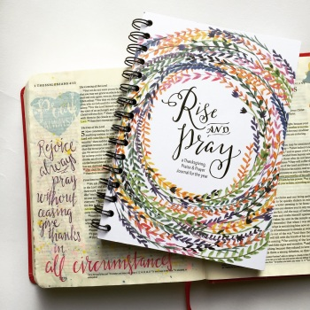 Bible Journaling with Grace & Salt ink | inkDori | Watercolor Bible Journaling | Rise and Pray Notebook | Prayer Journal