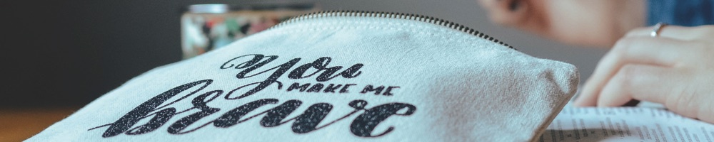 You Make Me Brave Canvas Pouch | Grace & Salt ink