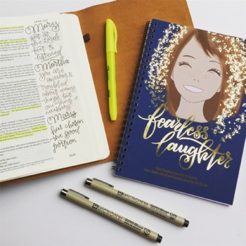 Bible Journaling with Watercolor | Grace & Salt ink Fearless Laughter journal