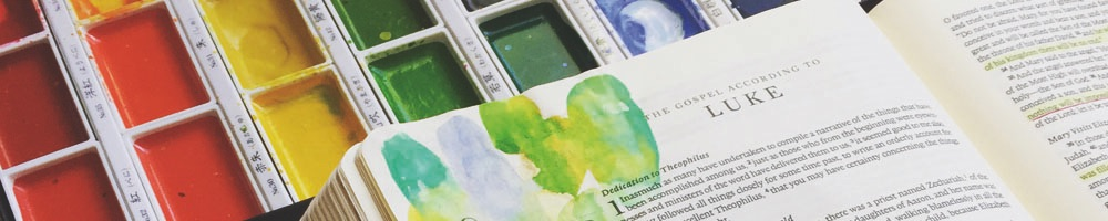 Bible Journaling with Watercolor | Grace & Salt ink