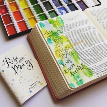 Bible Journaling with Watercolor | Grace & Salt ink Rise & Pray notebook