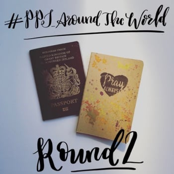 Pocket Prayer Journal Around the World | Grace & Salt ink | pocket journal | bujo insert | traveler's notebook insert